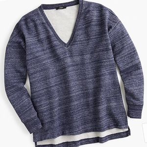 J.Crew V-neck Oversized Sweatshirt